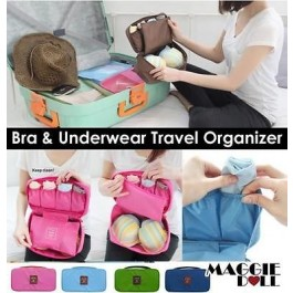 Travel Organizer Bra Underwear Pouch [Green]